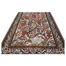 5.3 x 3.5 Luxury Animal kingdom Oriental rug √ Free shipping