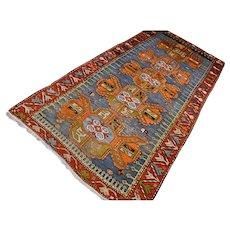 9.5 x 4.4 Vintage antique 1850s Kazak rug √ Free shipping