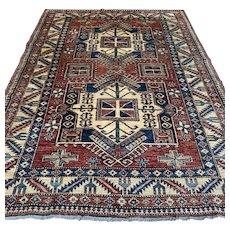 Free shipping - 7.9 x 5.8 Afghan Kazak Oriental rug
