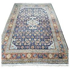 Free shipping - 8 x 5.8 Blue vintage Kurdish Oriental rug