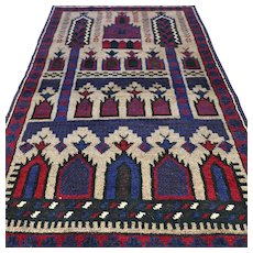 Free shipping -  4.8 x 3 New and unused Afghan Prayer rug