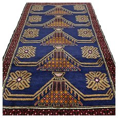 4.6 x 2.9 New and unused dark tribal Kazak rug √ Free shipping
