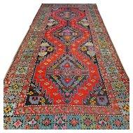 8.4 x 3.7 Antique early 1900s Caucasian Karabakh Kazak rug √ Free shipping