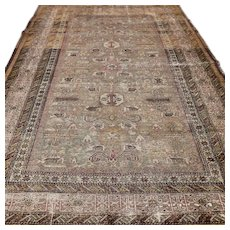 5.6 x 4.1 Antique 1800s Caucasian Perepedil Kazak rug √ Free shipping