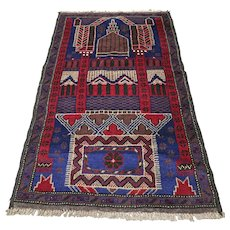 5 x 3 New and unused Afghan Prayer rug √ Free shipping