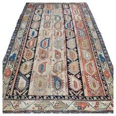 5.8 x 3.5 Antique 1870s boteh Caucasian Kazak rug √ Free shipping