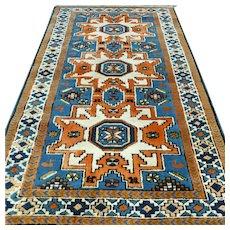 4.3 x 2.5 Anatolian Lesghi star Kazak √ Free shipping