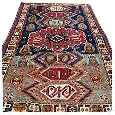 5.3x3.4 Antique Caucasian Kazak rug √ Free shipping