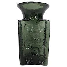 Blenko Joel Myers Avocado Green Pinwheel Water Bottle
