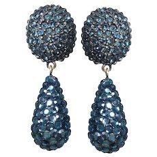 3c6cf543e Vintage Signed Eisenberg Crystal Drop Clip Earrings : Chapel Hill ...