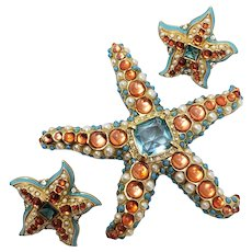 Kenneth Jay Lane Whimsical Starfish Demi Parure