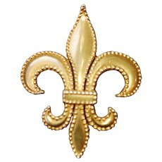 Antique Victorian Fleur De Lis Watch Pin