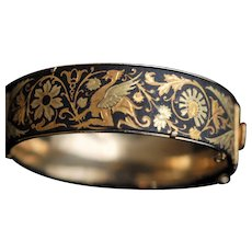Damascene Bangle Bracelet