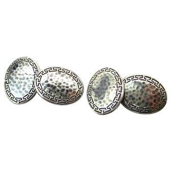 Vintage Art Deco Sterling Silver Men's Cuff LInks