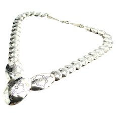 Carolyn Pollack Southwestern Sterling Silver Concho Necklace