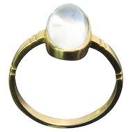 Moonstone 18K Gold Vintage Ring