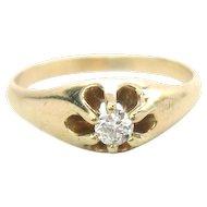 Antique Victorian Diamond 14K Gold Ring