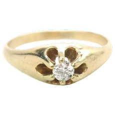 Antique Victorian Diamond 14K Gold Ring