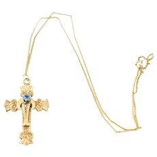 Vintage Antique Victorian 10k Gold Cross Pendant  Antique Gold Cross 10k Antique Cross Necklace