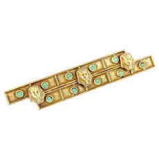 Vintage 1920s Egyptian Revival Brooch | Egyptian Revival Jewelry