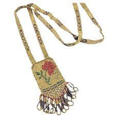 Vintage 1920s Art Deco beaded sautoir necklace   Cut steel beaded necklace   Art Deco flapper 1920s necklace