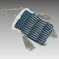 Vintage 1920s Purse | French Cut Steel Beaded Purse | Art Deco Purse