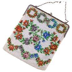 Art Deco Vintage Beaded Purse | Microbead Purse | 1920s Handbag | Beaded Handbag