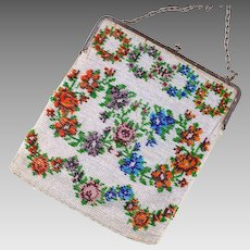Art Deco Vintage Beaded Purse | Microbead Purse | 1920s Handbag | Beaded Handbag