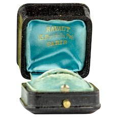 Paris Antique ring box | Antique ring presentation box | Vintage engagement ring box | Edwardian ring display