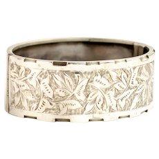 Antique Victorian Silver Bangle Bracelet | Victorian Bracelet