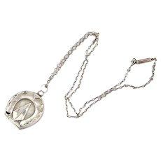 Antique Victorian Locket | Horseshoe Locket | Antique Silver Locket | Silver Antique Locket