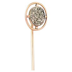 Antique Victorian Stickpin | Antique Pyrite 10k Gold Pin | Victorian Gold Antique Stick pin