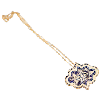 Antique 10k Gold Victorian Pendant | Antique Gold Pendant | Engraved Victorian Antique Pendant | Dionysian Grapes Gold  Jewelry