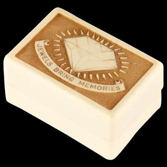 Vintage Art Deco ring box | Antique ring presentation box | Vintage engagement ring box | Vintage Ring Display Box