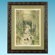 """Bernard Ganther Artist's Proof Lithograph """"Waterfall"""""""