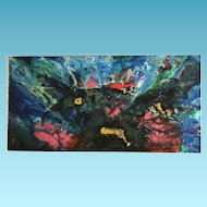 "Stefan George Acrylic Painting ""Reef Life"""