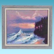 Buck Paulson Oil Painting of Ocean Sunrise Twilight Hues