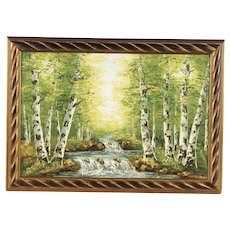 "SMX Oil Painting ""Birch Trees"""