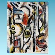 "Stefan George Acrylic Painting ""Metro I"""