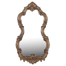 Baroque-Style Scrolled Wood Carved Wall Mirror