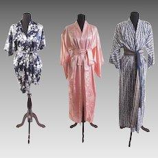 Classic Vintage Silk & Cotton Robes and Kimonos