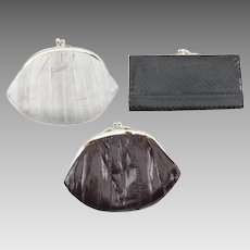 Neiman Marcus Vintage Eel and Snake Skin Coin Pouches and Wallet