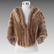 Women's Vintage Brown York Furrier Mink Fur Sole