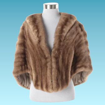 Women's Vintage Brown York Furrier Mink Fur Sole