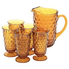 Colony Whitehall Vintage Pitcher and Iced Tea Glasses