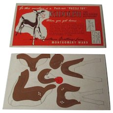 Vintage Rudolph The Red Nosed Reindeer Puzzle - Montgomery Wards Store
