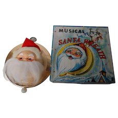 Vintage Japan Musical Santa Wreath in Original Box