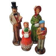 Vintage Japan 4 Piece Christmas Caroling Figures