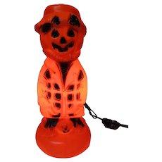 Vintage Halloween Plastic Blow Mold Light - Bayshore JOL Head Scarecrow