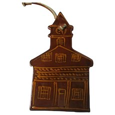 Ned Foltz Redware Pottery Christmas Ornament - Terre Hill Timbers Building